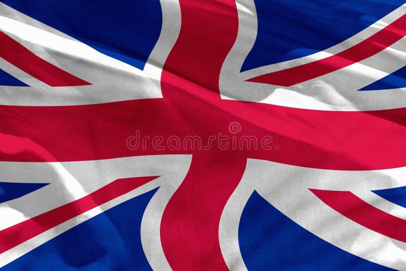 Le drapeau BRITANNIQUE de ondulation du Royaume-Uni pour l'usage comme texture ou fond, le drapeau flotte sur le vent illustration libre de droits