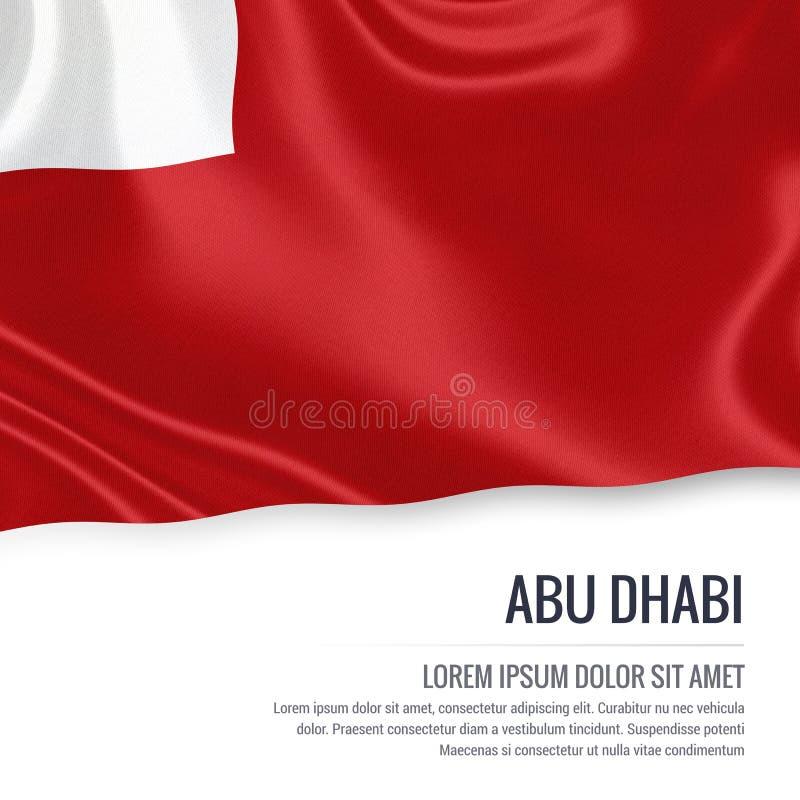 Le drapeau d'Abu Dhabi d'état des Emirats Arabes Unis illustration libre de droits