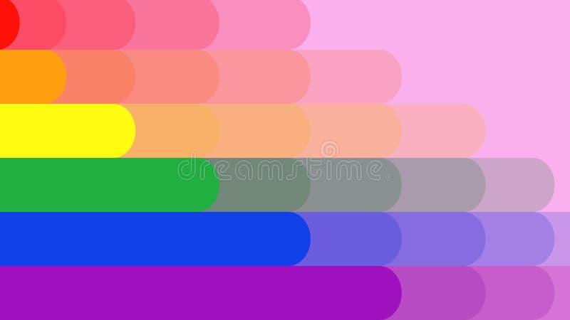 Le drapeau d'arc-en-ciel est formé, longueur idéale pour représenter l'amour et l'égalité entre les sexes image stock