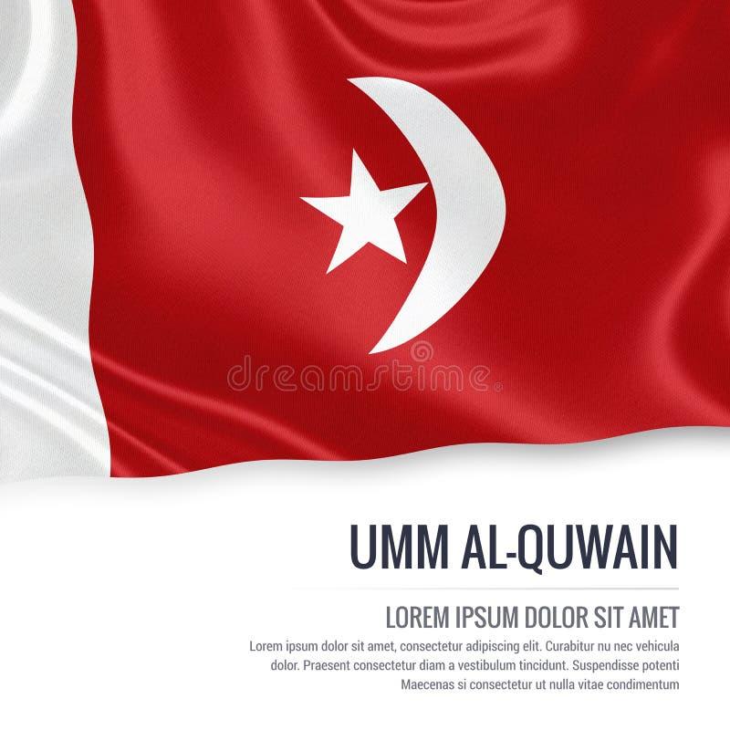 Le drapeau d'Umm al-Quwain d'état des Emirats Arabes Unis illustration stock