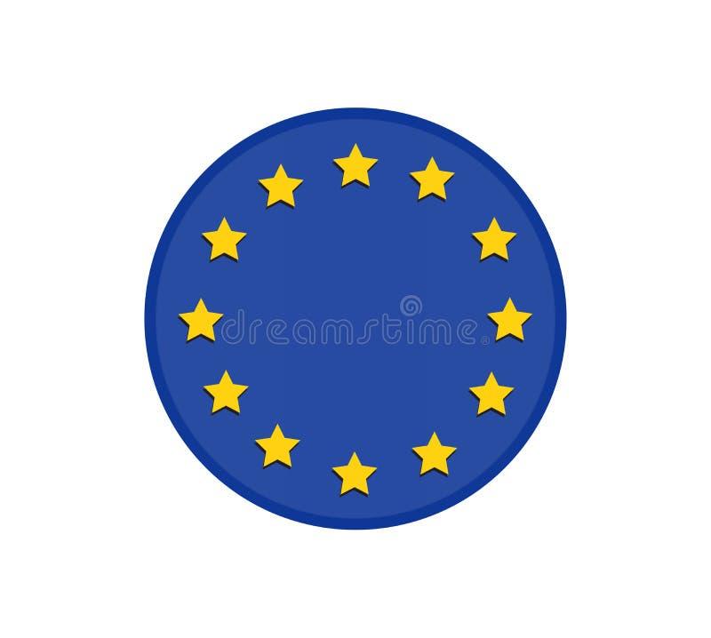 Le drapeau d'Union européenne, les couleurs officielles et proportionnent correctement illustration stock