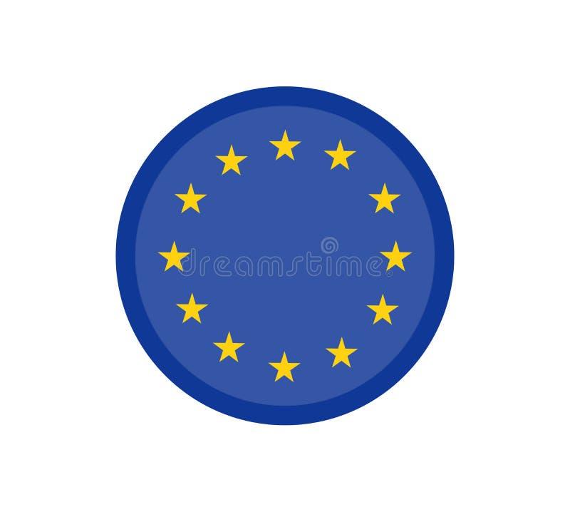 Le drapeau d'Union européenne, les couleurs officielles et proportionnent correctement Symbole patriotique d'UE, bannière, élémen illustration libre de droits
