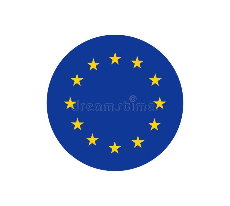 Le drapeau d'Union européenne, les couleurs officielles et proportionnent correctement Symbole patriotique d'UE, bannière, élémen illustration de vecteur