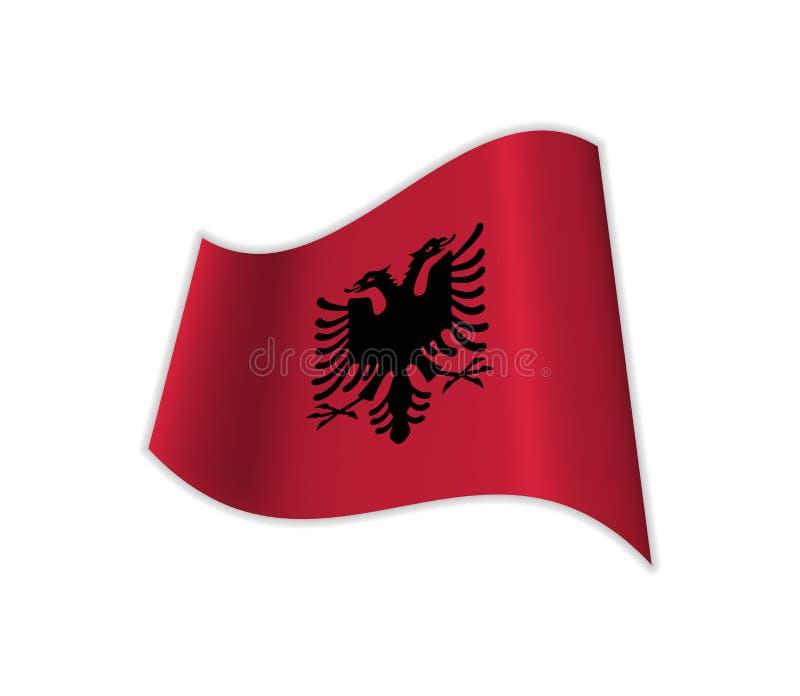 Le drapeau de l'Albanie illustration stock