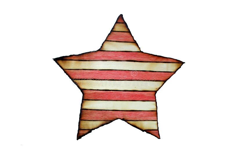 Le drapeau de l'Amérique a brûlé le bois images libres de droits