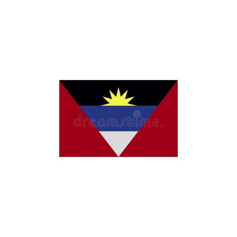 le drapeau de l'Antigua-et-Barbuda a coloré l'icône ?l?ments d'ic?ne d'illustration de drapeaux Des signes et les symboles peuven illustration libre de droits