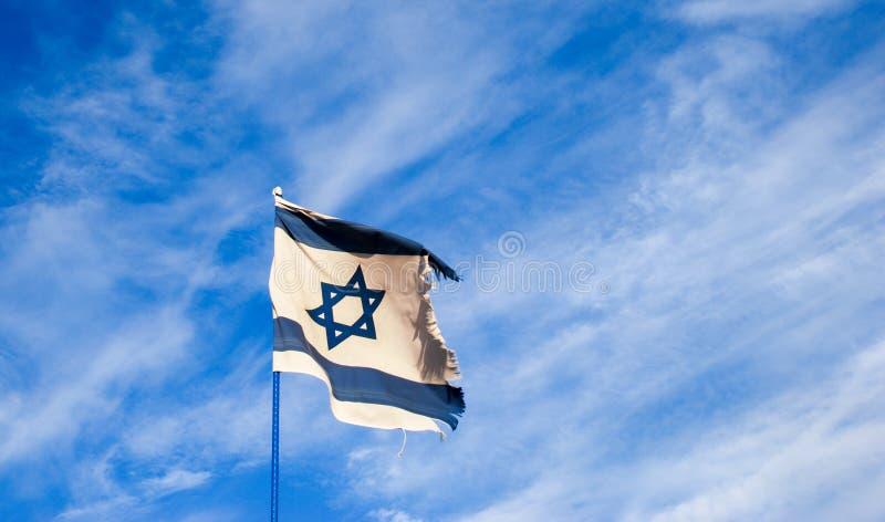 Le drapeau de l'Israël au Jour de la Déclaration d'Indépendance israélien photo stock