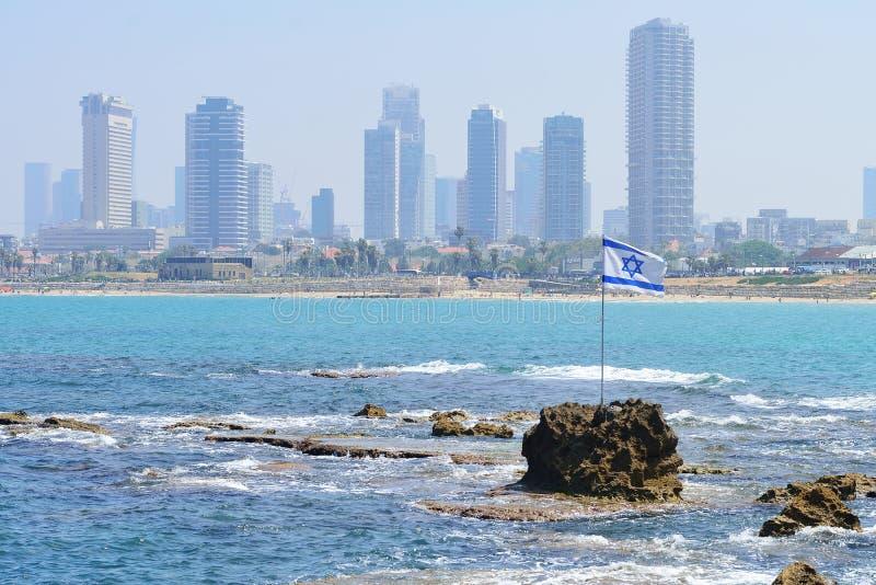 Le drapeau de l'Israël contre image libre de droits