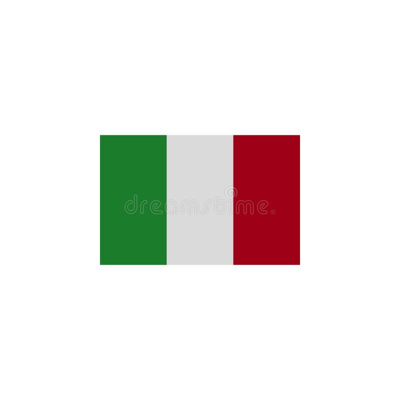 le drapeau de l'Italie a coloré l'icône ?l?ments d'ic?ne d'illustration de drapeaux Des signes et les symboles peuvent ?tre emplo illustration stock