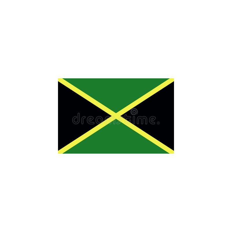 le drapeau de la Jamaïque a coloré l'icône ?l?ments d'ic?ne d'illustration de drapeaux Des signes et les symboles peuvent ?tre em illustration libre de droits