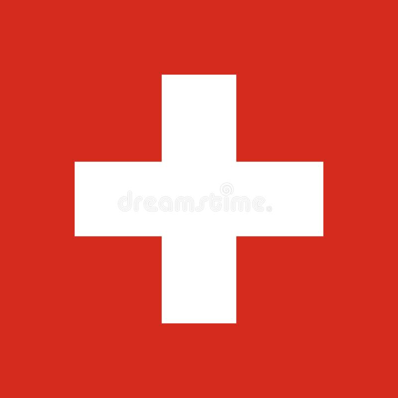 Le drapeau de la Suisse Symbole national de l'état Vecteur IL illustration stock