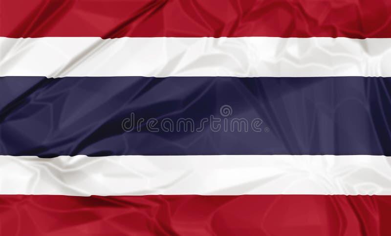 Le drapeau de la Thaïlande illustration libre de droits