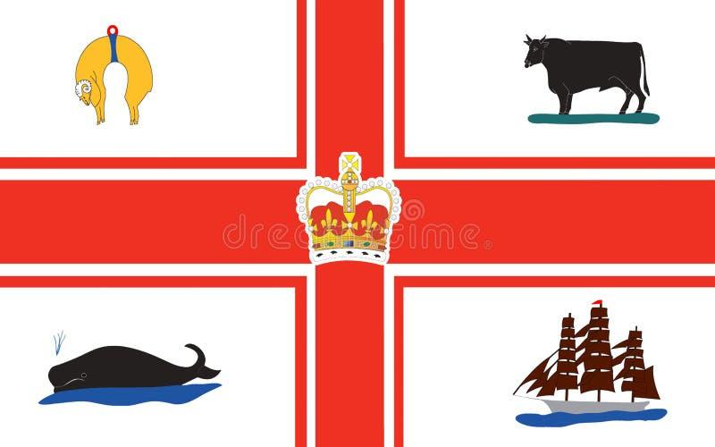 Le drapeau de Melbourne est capital dans l'état australien de Victoria illustration de vecteur