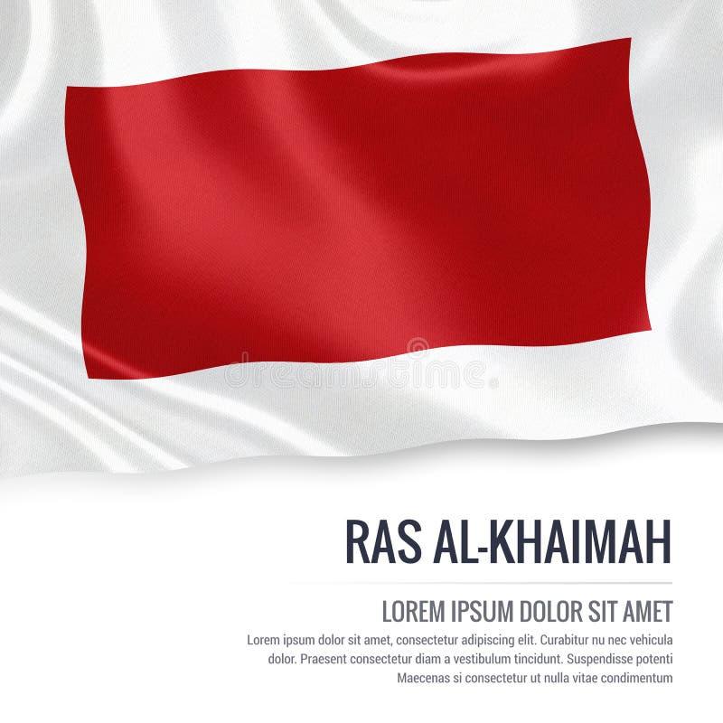 Le drapeau de Ras Al-Khaimah d'état des Emirats Arabes Unis illustration libre de droits