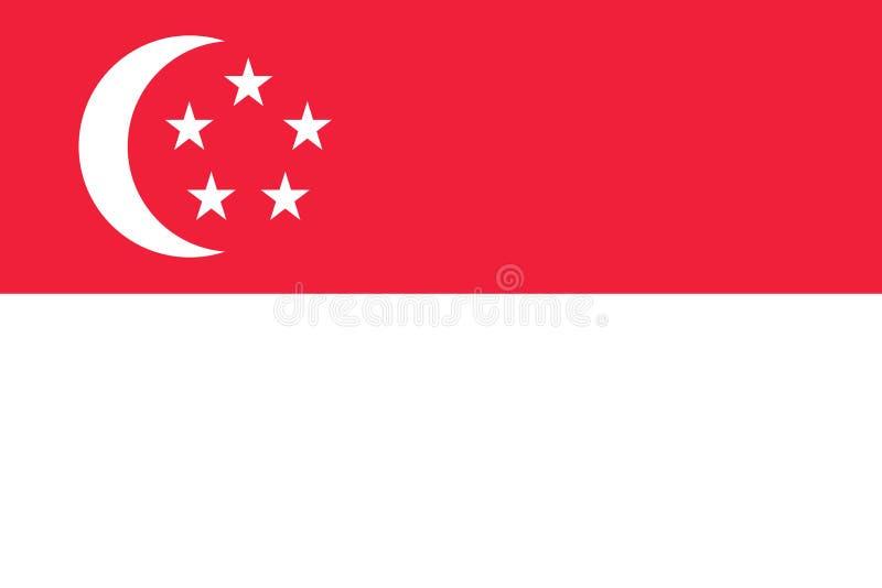 Le drapeau de Singapour Symbole national de l'état Illu de vecteur illustration libre de droits