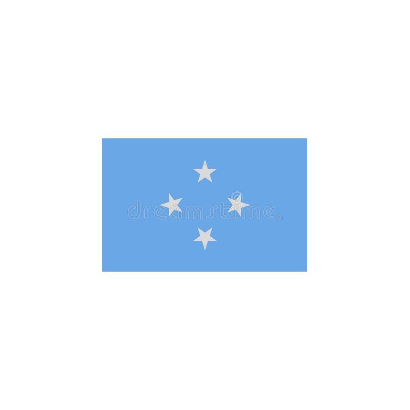 le drapeau des Etats fédérés de Micronésie a coloré l'icône ?l?ments d'ic?ne d'illustration de drapeaux Des signes et les symbole illustration de vecteur