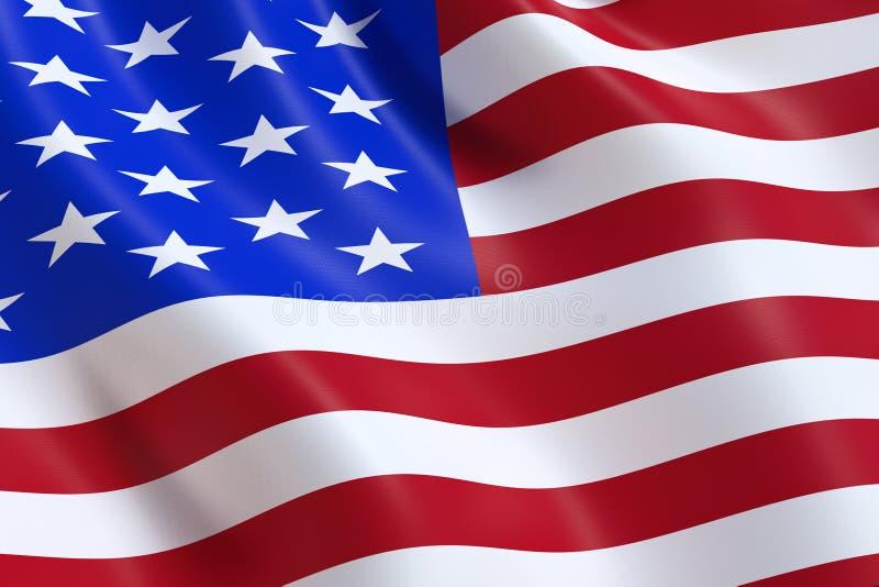 Le drapeau des Etats-Unis, ondulant dans le vent photographie stock libre de droits