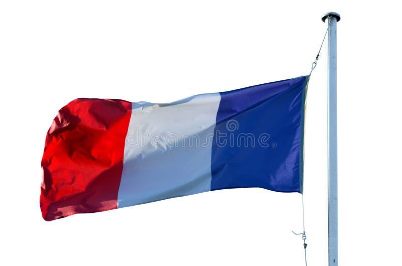Le drapeau des Frances d'isolement sur le fond blanc photos libres de droits