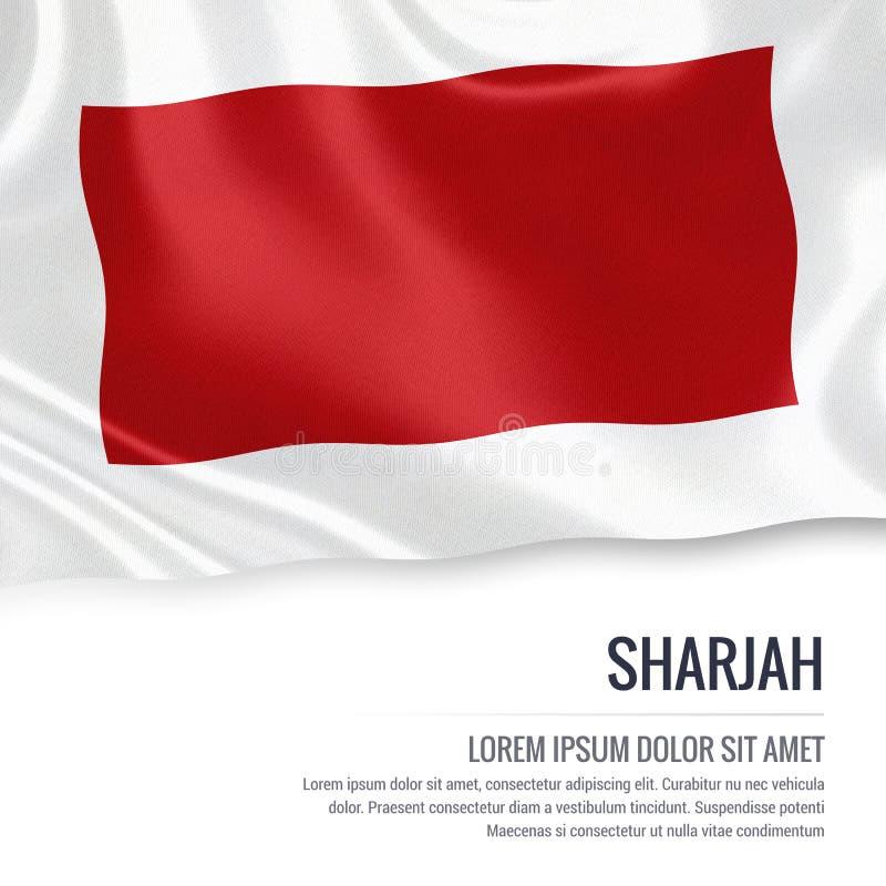 Le drapeau du Charjah d'état des Emirats Arabes Unis illustration de vecteur