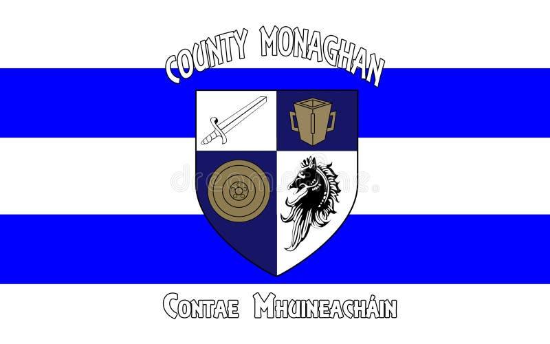 Le drapeau du comté Monaghan est un comté en Irlande photographie stock libre de droits