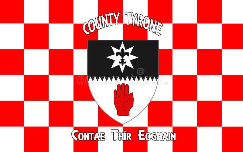 Le drapeau du comté Tyrone est un comté en Irlande images stock