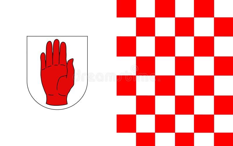 Le drapeau du comté Tyrone est un comté en Irlande image libre de droits