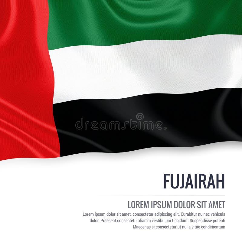 Le drapeau du Foudjairah d'état des Emirats Arabes Unis illustration libre de droits
