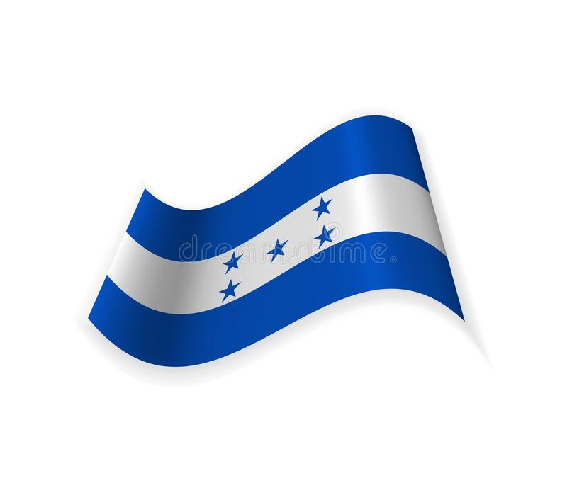 Le drapeau du Honduras illustration de vecteur