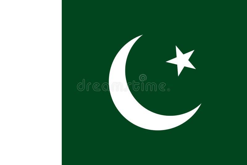 Le drapeau du Pakistan, dirigent le style plat illustration libre de droits