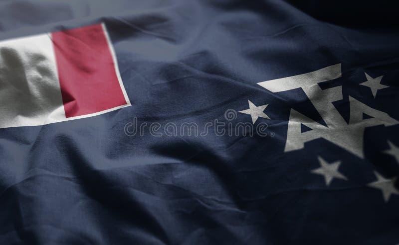 Le drapeau du sud français a fripé étroit  photo libre de droits