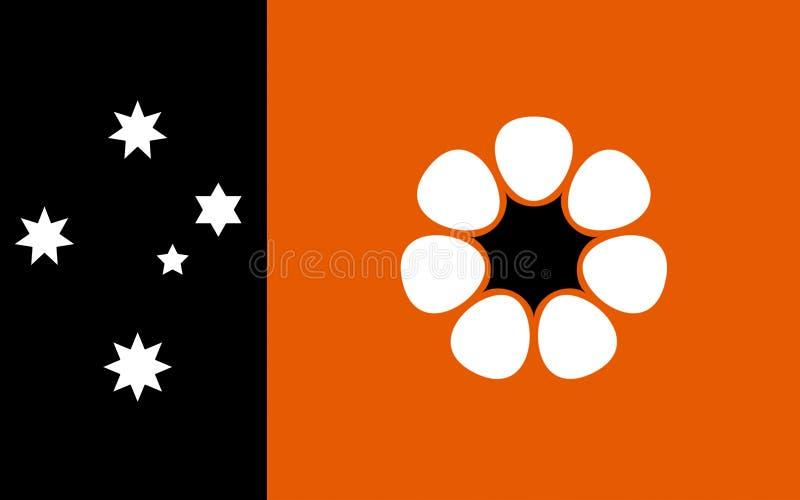 Le drapeau du territoire du nord est territoire australien fédéral illustration libre de droits