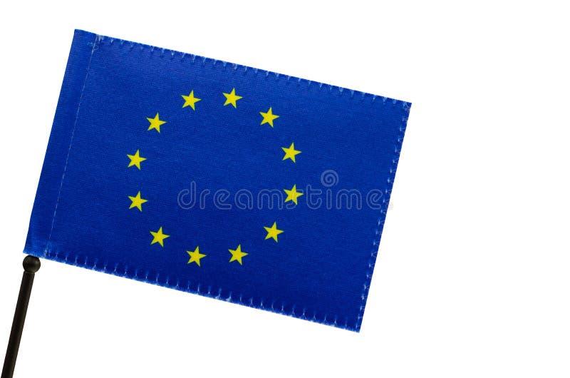 Le drapeau européen ou drapeau de l'Europe images stock