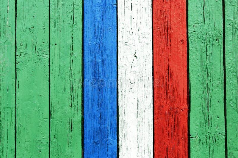 Le drapeau français peint sur le bois photographie stock