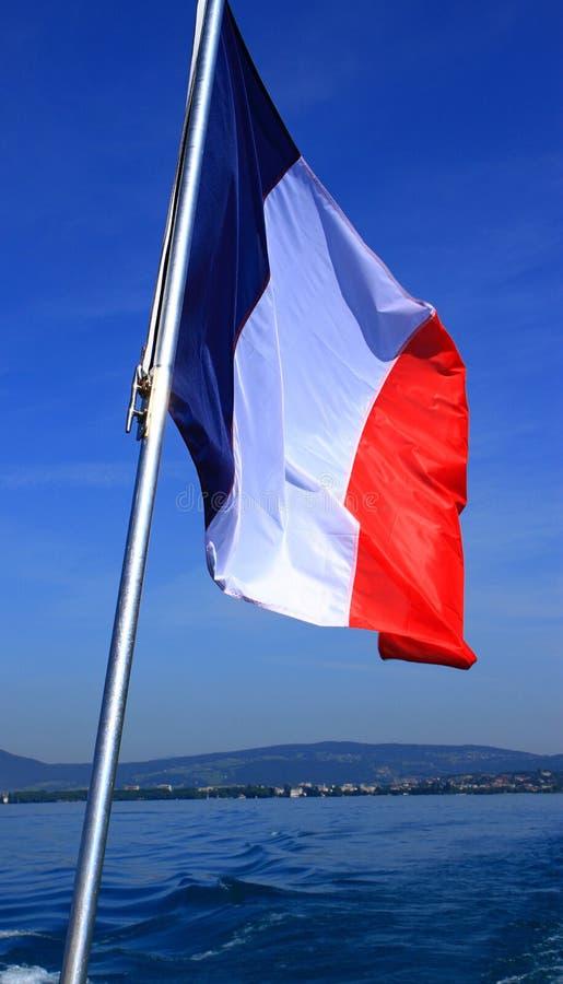 Le drapeau français vawing sur le vent photographie stock