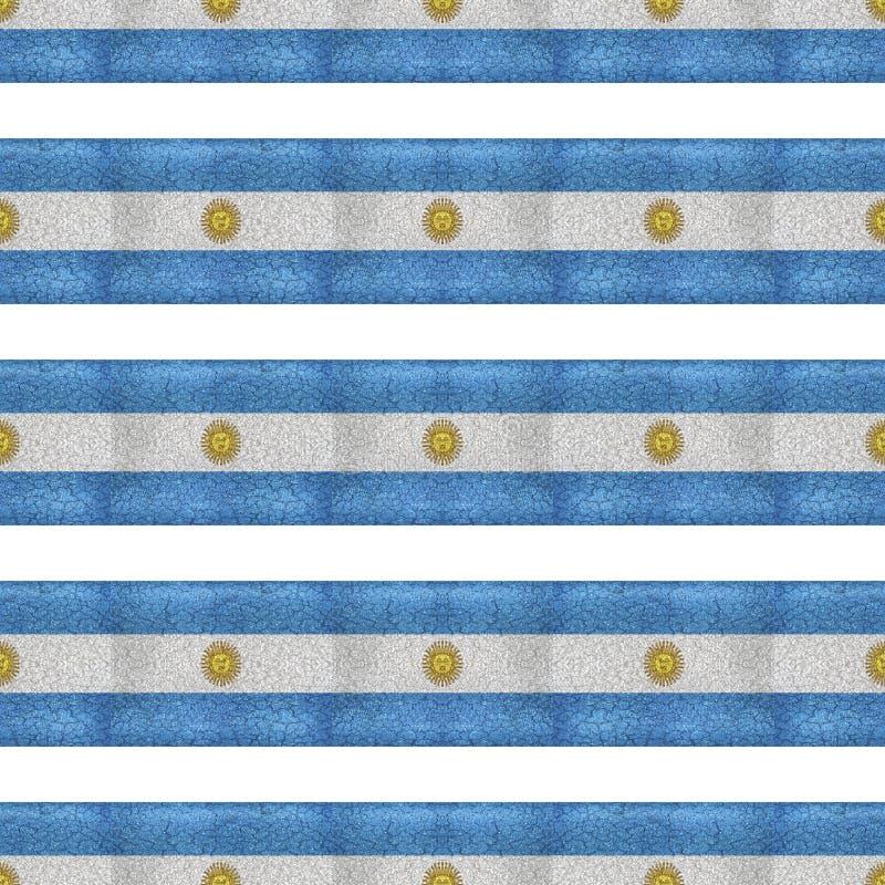 Le drapeau grunge de l'Argentine de style barre le modèle illustration stock