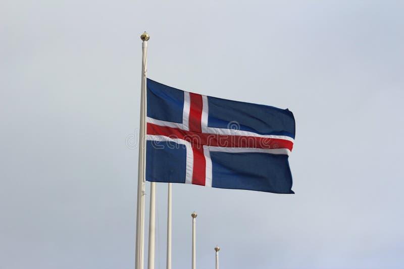 Le drapeau islandais image libre de droits