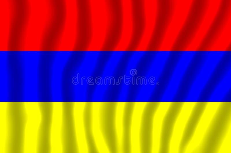 Le drapeau national de l'Arménie illustration stock