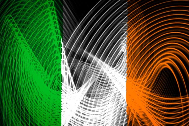 Le drapeau national de l'Irlande illustration stock