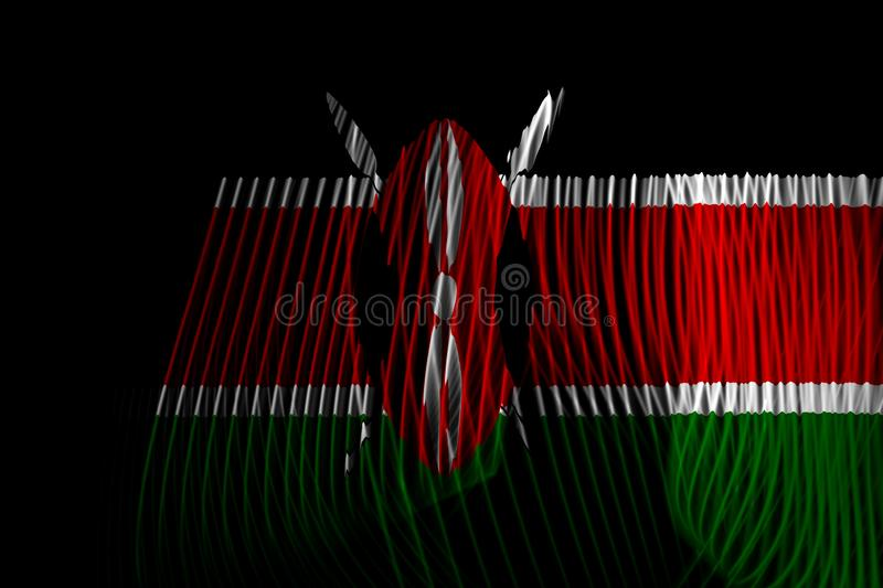 Le drapeau national du Kenya illustration stock
