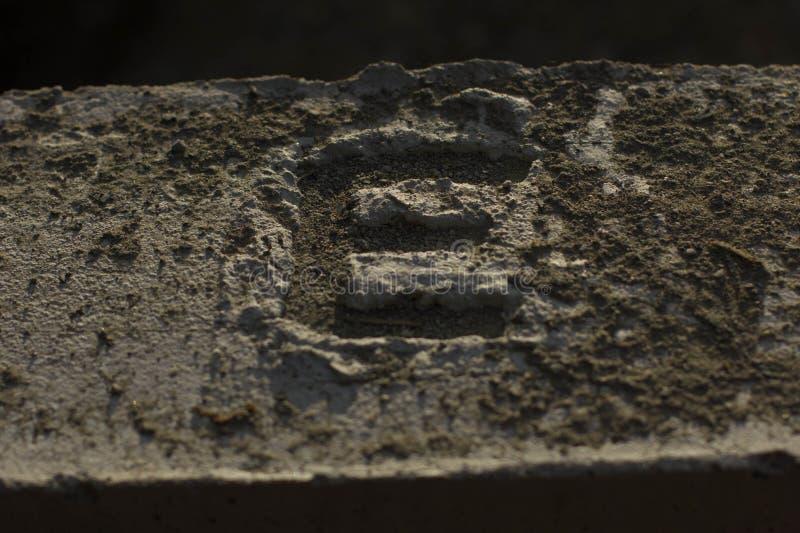 Le ` du ` E de ciment transforment à la maison photographie stock libre de droits