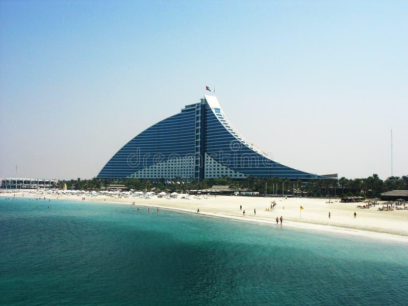 Hôtel de plage de Jumeirah à Dubaï photo stock