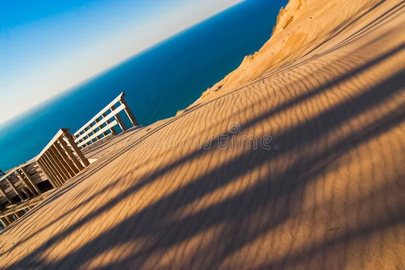 Le dune dell'orso di sonno trascurano in impero, Michigan fotografie stock libere da diritti