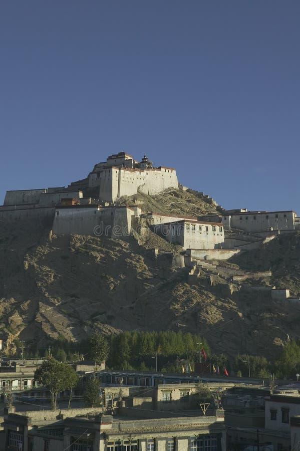 Le Dzong au Thibet image libre de droits