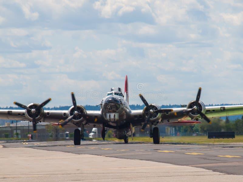 Le eliche del bombardiere B17 immagine stock