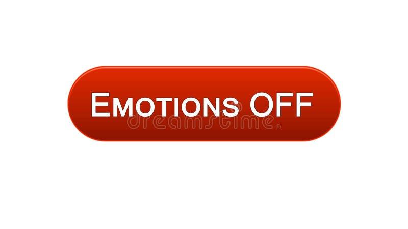 Le emozioni fuori dall'interfaccia di web abbottonano il colore rosso, espressione di sensibilità, progettazione del sito illustrazione vettoriale
