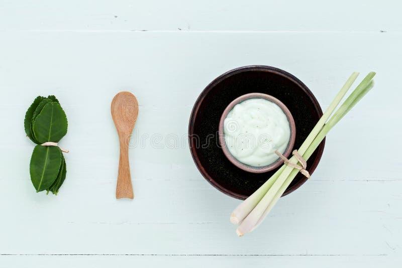 Le erbe fresche casalinghe asiatiche sfrega fotografia stock libera da diritti