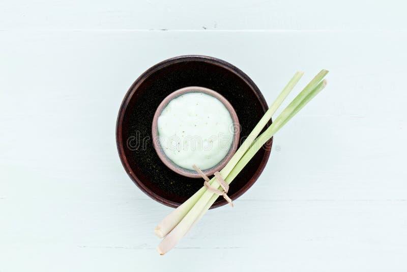Le erbe fresche casalinghe asiatiche sfrega immagine stock libera da diritti