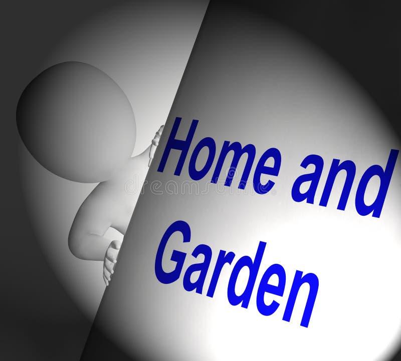 Le esposizioni del segno del giardino e della casa all'interno ed all'aperto progettano royalty illustrazione gratis