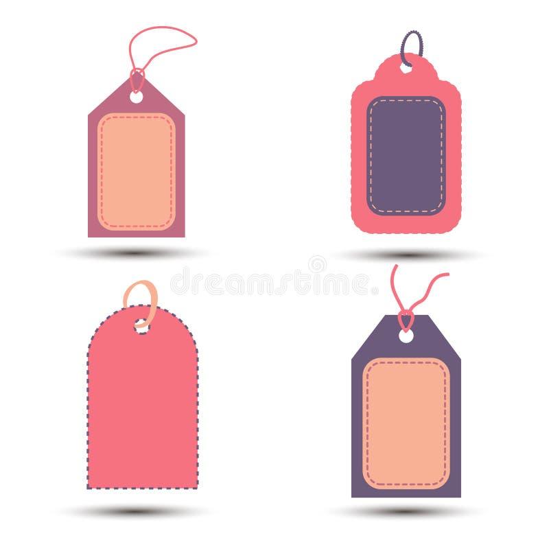 Le etichette d'annata di vendita di stile della raccolta, l'offerta speciale e grande & i migliori segni dei prezzi progettano Il illustrazione di stock