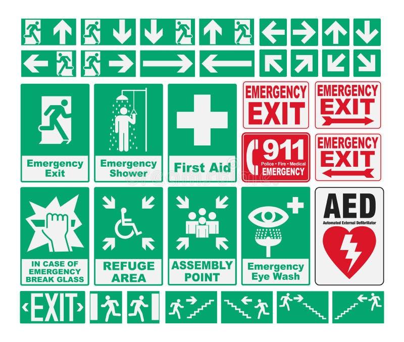 Le evacuazioni di emergenza canta illustrazione vettoriale